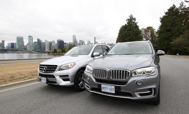 BMW X5 xDrive30d Mercedes ML 350 BlueTEC 4Matic Bilder Vergleich