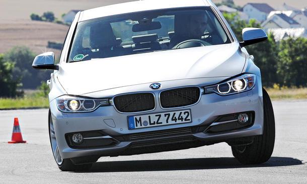 Bilder 2013 BMW 316i Mittelklasse Vergleichstest Agilität