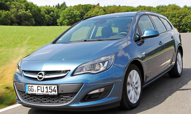 Bilder 2013 Opel Astra Sports Tourer 1.4 Turbo ecoFLEX Kompakt-Kombi Vergleichstest Stoßdämpfer
