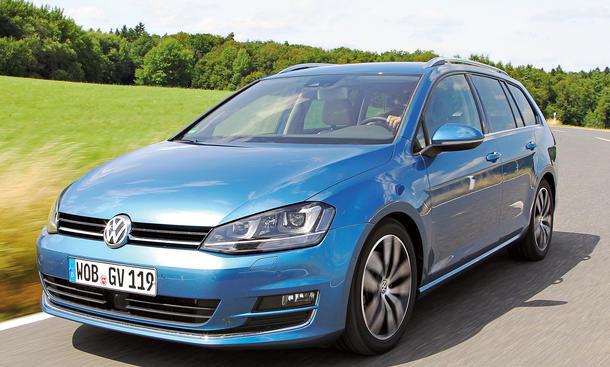Bilder 2013 VW Golf Variant 1.4 TSI Kompakt-Kombi Vergleichstest Fahrkomfort