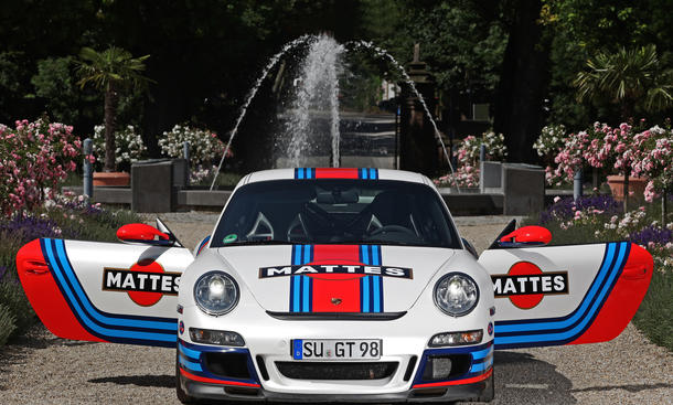 Cam Shaft Porsche 911 997 GT3 Folierung Martini-Racing Tuning