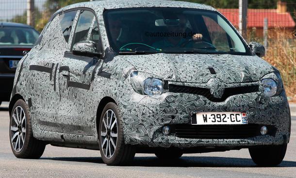 Erlkönig Renault Twingo 2014 Kleinwagen Heckantrieb Smart-Basis
