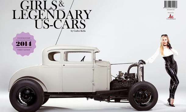 Girls and legendary US Cars 2014 Kalender Erotik Carlos Kella