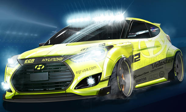 Hyundai Veloster Turbo Yellowcake SEMA Las Vegas 2013 Tuning Messe