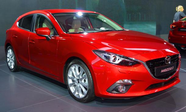 Mazda 3 2013 IAA Kompaktklasse Frankfurt Bilder Fließheck Limousine