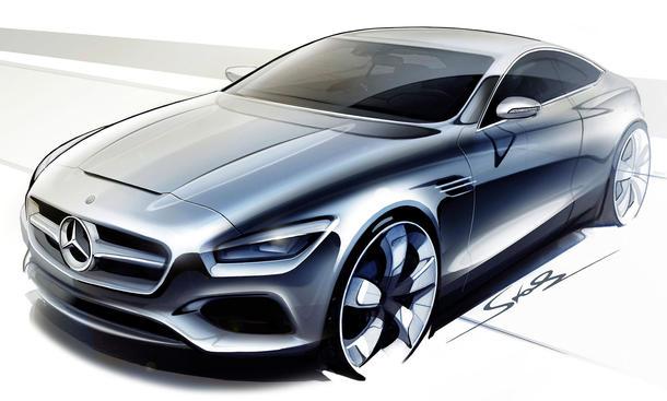 Mercedes S Klasse Coupe 2013 IAA Skizzen CL Nachfolger