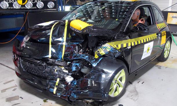 Opel Adam Crashtest Euro NCAP Sicherheit 4 Sterne
