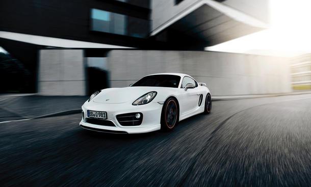 Techart Porsche Cayman S 2013 Tuning Sportwagen Coupé Spoiler IAA