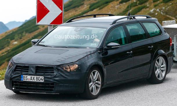 VW Passat 2014 Erlkönig Variant Mule front