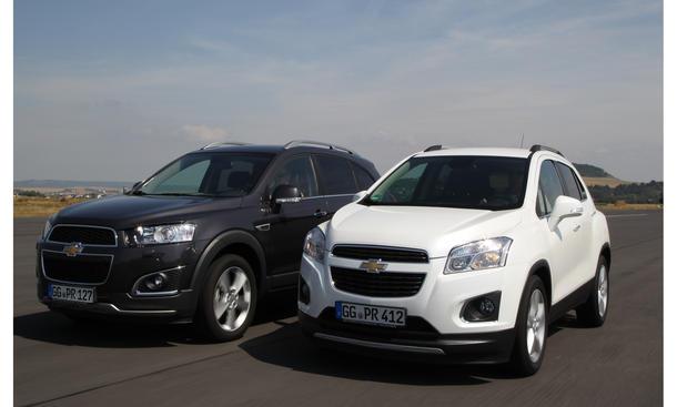 Chevrolet Captiva 2.4 AWD Trax 1.4 Turbo Vergleich Bilder