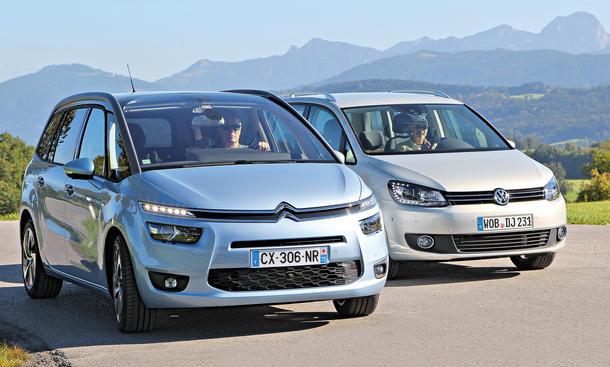 Citroen Grand C4 Picasso BlueHDi 150 VW Touran 2.0 TDI Vergleich Bilder technische Daten