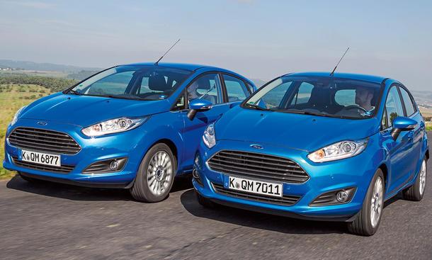 Ford Fiesta 1.0 EcoBoost 1.6 TDCi Vergleich Bilder technische Daten