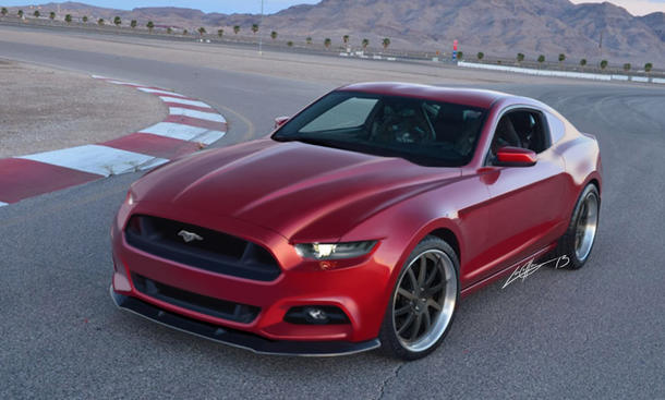 Ford Mustang 2014 Vierzylinder Europa Muscle-Car USA Rendering