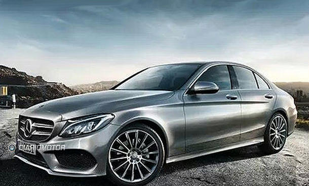Mercedes C Klasse 2014 W205 enthuellt Leak Fotos Limousine Mittelklasse