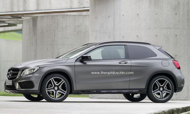 Mercedes GLA Coupé Dreitürer SUV Geländewagen Rendering