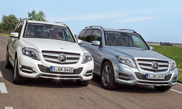 mercedes glk 250 vs. glk 250 bluetec: benziner und diesel im
