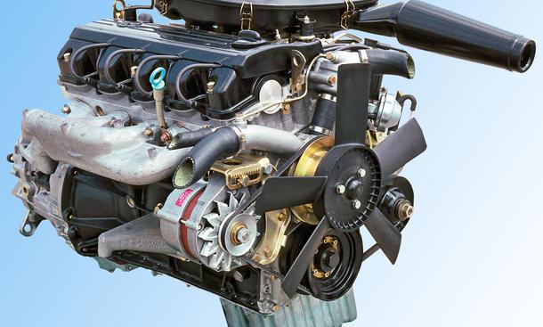Mercedes M102 Vierzylinder Motor Bilder