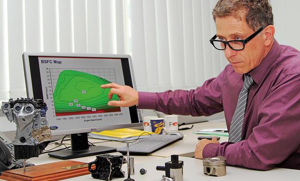 Ford Projektleiter Roland Ernst EcoBoost Dreizylinder Motor Bilder