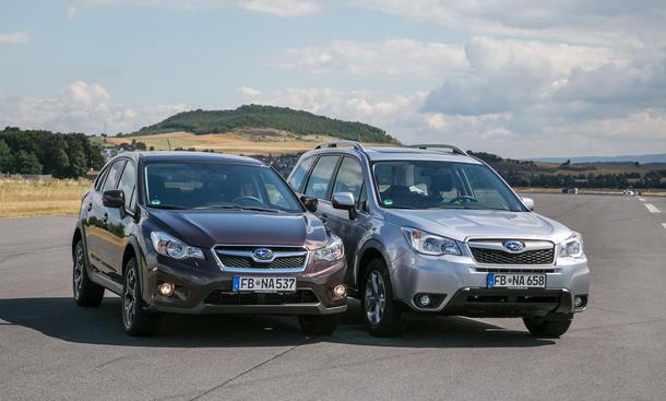 Subaru XV Subaru Forester Vergleichstest Bilder technische Daten