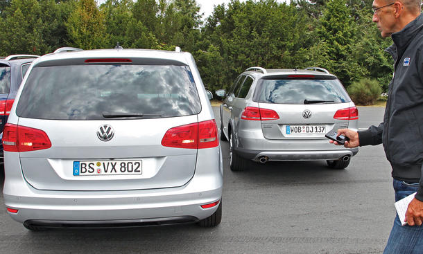 VW Assistenzsysteme Parken Technik
