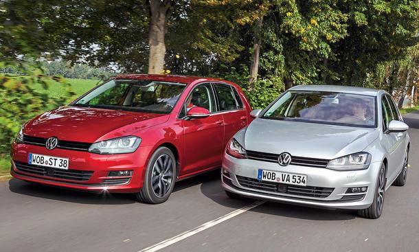 VW Golf 1.2 TSI BMT 1.6 TDI BMT Vergleich Bilder technische Daten
