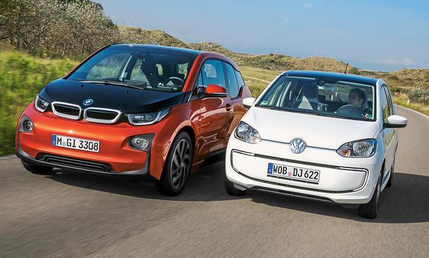 BMW i3 VW e-UP Vergleich E-Auto Bilder technische Daten