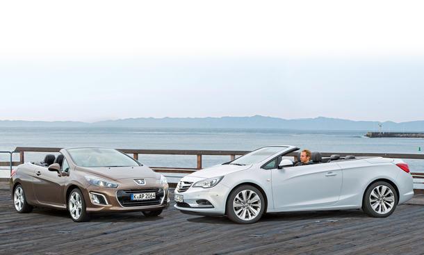 Bilder Opel Cascada Peugeot 308 CC Markenvergleich
