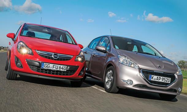 Bilder Opel Corsa Peugeot 208 Markenvergleich