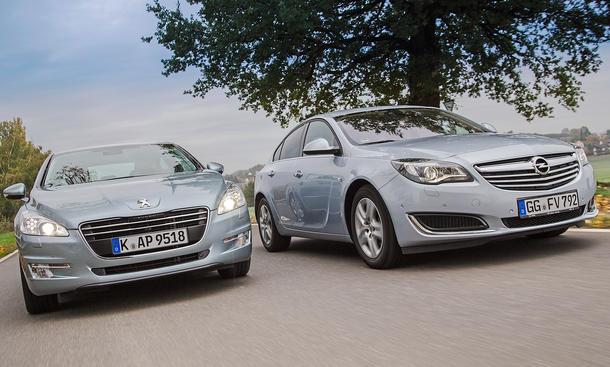 Bilder Opel Insignia Peugeot 508 Markenvergleich