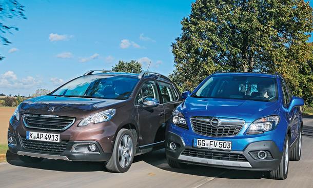 Bilder Opel Mokka Peugeot 2008 Markenvergleich