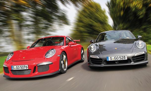 Bilder Porsche 911 GT3 Porsche 911 Turbo S Vergleichstest