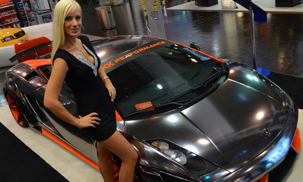 Cars and Girls Essen Motor Show 2013 Tuning Messe Hostessen Erotik