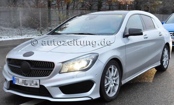 Mercedes CLA Shooting Brake 2015 Erlkoenig Kombi Kompaktklasse Marktstart