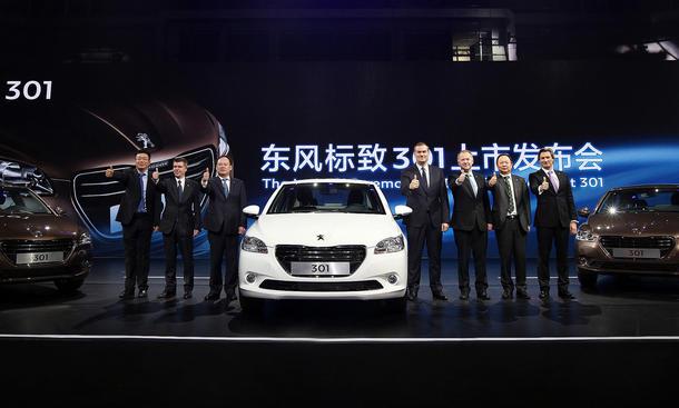 Peugeot 301 2013 Guangzhou Auto Show China Marktstart