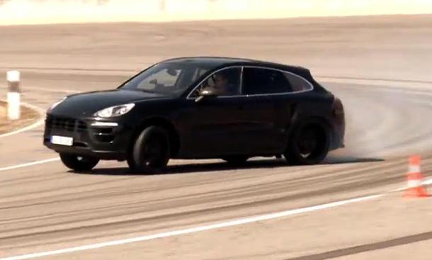 Porsche Macan 2014 Video Track Teaser Rennstrecke Weissach Drift