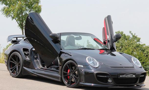 Tuning Porsche 911 Turbo Cabrio Speedart BTR II 600 EVO Ultra Edition Bilder Scherentüren