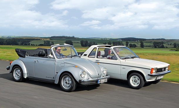 VW 1303 Cabrio Inj. Opel Kadett Aero 1.6 S Vergleich Bilder technische Daten