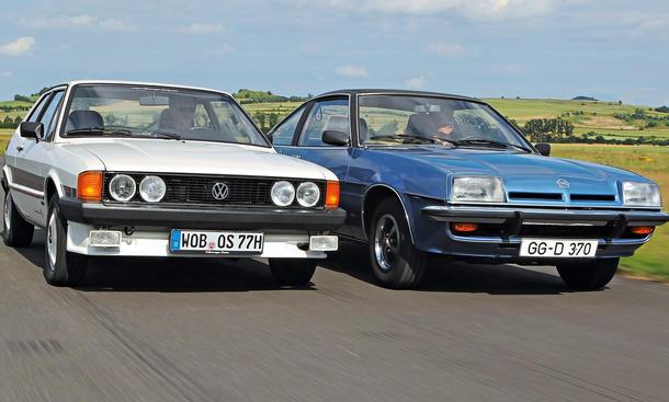 VW Scirocco SL Opel Manta 1.9 S Bilder technische Daten Vergleich
