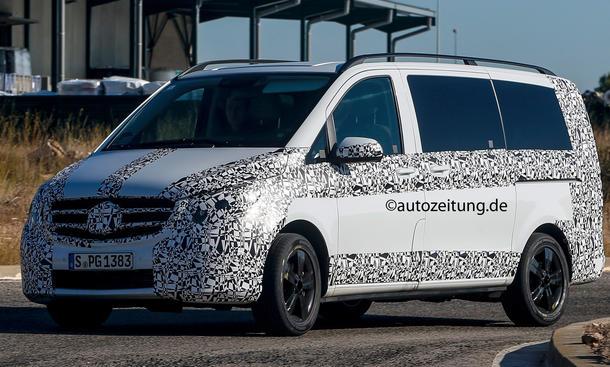 Mercedes V-Klasse 2014 Erlkoenig Bus Van Viano Nachfolger