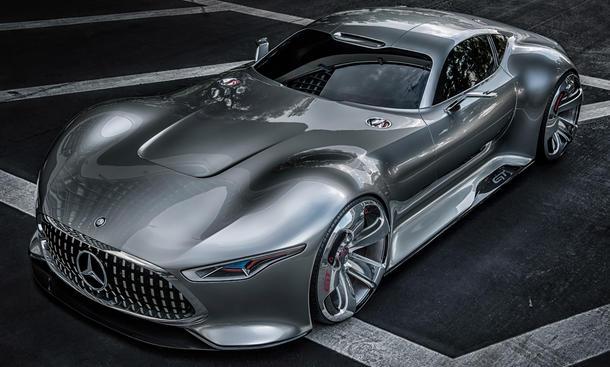 Mercedes Vision AMG GT Serienproduktion Limitiert Studie Supersportwagen SLS