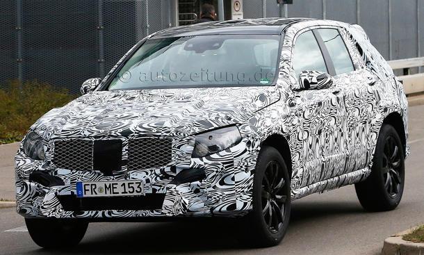 Erlkönig Mercedes GLK 2015 SUV Geländewagen Bilder Prototyp Zweite Generation