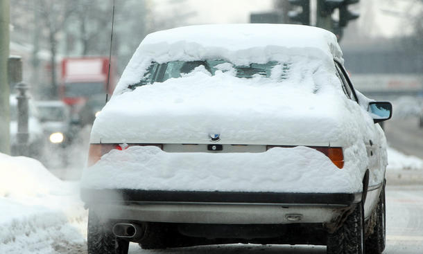 Winter Mythen Auto Mythos Waschanlage Winterdienst Fenster