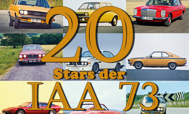Porsche 911 Opel Kadett Mercedes 230 IAA 1973 Oldtimer Bilder technische Daten