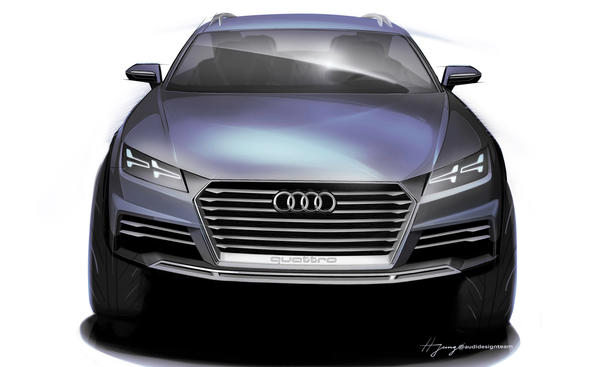 Audi Showcar Crossover Detroit Auto Show 2014 Kompaktsportler Allrad Konzeptstudie