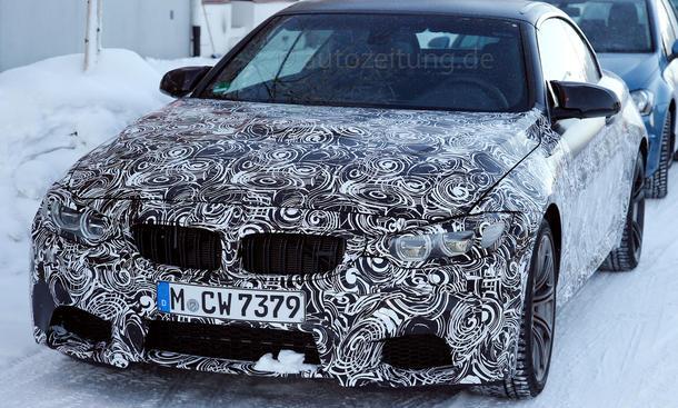 BMW M4 Cabrio 2014 Erlkoenig F83 Bilder Mittelklasse Prototyp Premiere