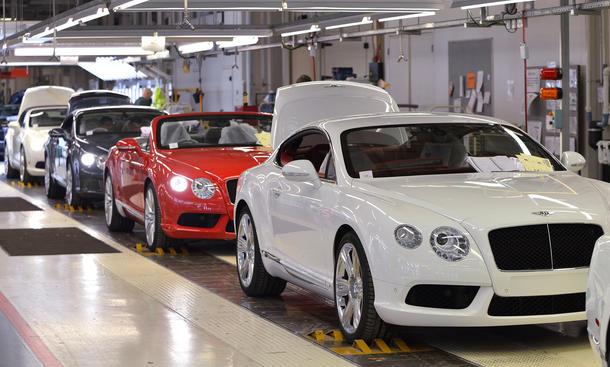 Bentley Verkaufszahlen 2013 Absatzrekord Wirtschaft Produktion