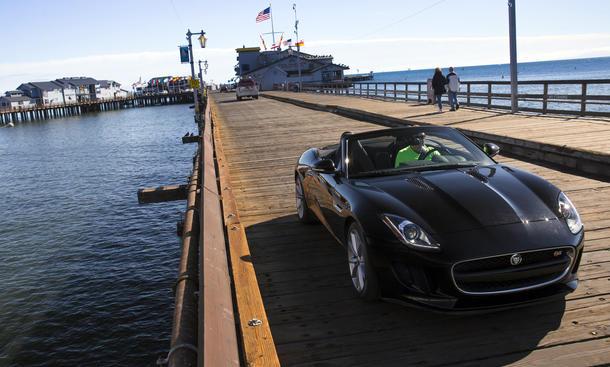 Bilder Jaguar F-Type S Cabriolet Supersportwagen Fahrbericht Kalifornien