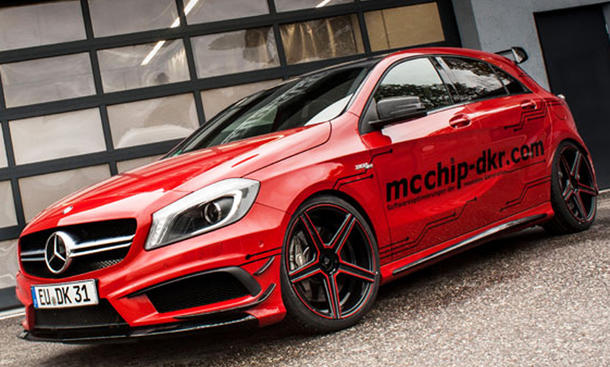 McChip-DKR Mercedes A 45 AMG Tuning Bilder Kompaktsportler Leistungsstufen