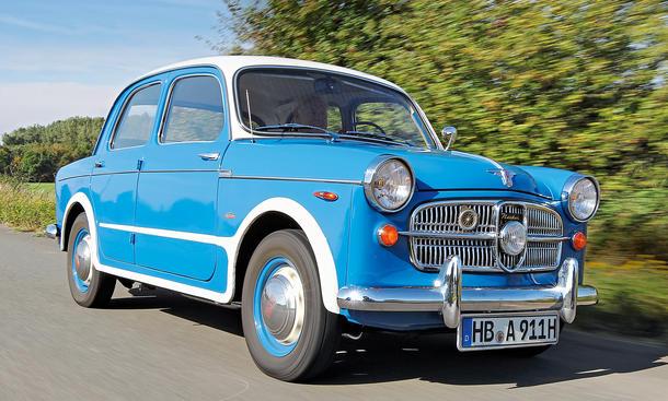 NSU-Fiat Neckar Oldtimer Bilder Kompaktklasse Viertürer