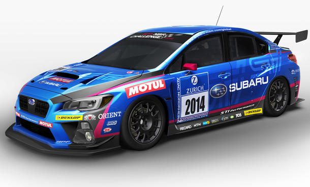 Subaru WRX STI 2014 Nürburgring 24 Stunden Rennen